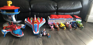 Paw Patrol Bundle! Lookout Tower, Air Patroller, Super paw Jet, Characters