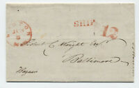 1849 Boston stampless ship 12 letter Buenos Aires [45.263]