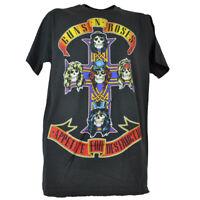 Guns N Roses Appetite For Destruction Cross Gray Mens Concert Tee Tshirt Rock