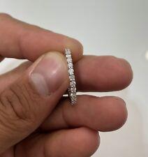Natural Diamond Eternity Wedding Band 14K Solid White Gold Round 1.24Ct