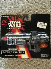 Star Wars Episode I Electronic BATTLEDROID RIFLE w/ Micro Light & Sound NIB