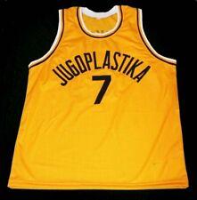 Custom Toni Kukoc #7 Yugoslavia Basketball Jersey Stitched 2 colors