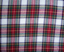 "Soft Brushed Cotton Red Stewart Tartan Check Dress Fabric 54"" Wide by Metre PJs"