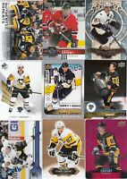 SIDNEY CROSBY a lot of 9 DIFFERENTS CARDS INSERTS  LOT 88