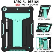 """For iPad 10.2""""/ Pro 10.5""""/Air 3 Armor Shockproof Stand Rugged Back Case Cover"""
