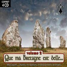 CD Que ma Bretagne est belle Vol.1 - 4 CD Box Set / French Folklore / IMPORT