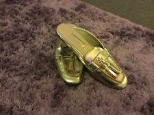 Primark gold backless loafer size 5