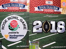 College Football Black 2018 CFP Champs & Rose Bowl Game Patches Worn By Georgia