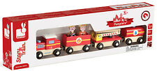 Janod Story Firefighter Train Wooden Kids/Childrens Toy  BNIB
