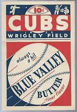 1932 Chicago Cubs Baseball Program Scorecard vs Brooklyn Dodgers D