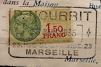 125 France Stamp Tax On Document Obliteration Board Game 1935