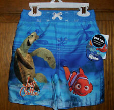 Nemo 2T Disney Swim Bathing Suit Trunks Shorts UPF 50+ Toddler Boys NWT Blue