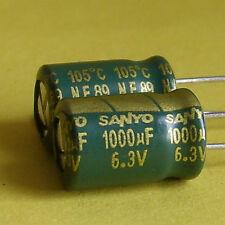 Sanyo 6.3V 1000uF Motherboard Capacitor x 20pcs.Japan**