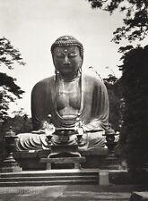 1934 Vintage 11x14 Japan ~ Kamakura Kotoku-in Temple Statue Photo Art HURLIMANN