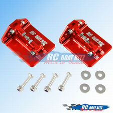 Traxxas M41 upgrade CNC trim tabs Red
