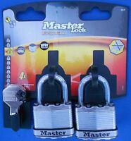 MASTER LOCK TWIN PACK M1T KEYED ALIKE masterlock excell padlocks RATED 8/10
