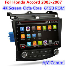 "10.1"" Android 4K Screen Radio Stereo GPS 8-Core 64GB HDMI For Honda Accord 03-07"