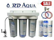 3 stage Clear Drinking water filter system with Chrome made Faucet Sale