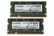 Crucial 4GB 4 GB 2X 2GB PC2-5300 DDR2-667MHz 200PIN SODIMM Laptop Memory RAM 2 G