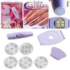 8er Set Fingernagel Stempelmaschine Stempel Nail Art Stamping Nagel 34 Muster x