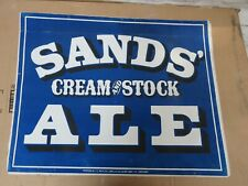 1870 Sands Cream Stock Ale Beer Lithograph Columbia Brewing Co Chicago Illinois