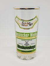 Vaso vodka RUSSISCHER wodka glass vintage alemania german coleccionables
