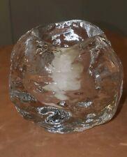 """Kosta Boda Sweden Crystal Snowball Ann Warff 3"""" Design Votive Candle Holder EUC"""