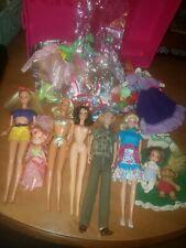 Vintage Modern Barbie Ken Mixed Lot W/ Clothes,Troll, Heart, Family