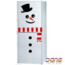 Christmas Snowman Fridge Sticker Decal Xmas Fridge Kitchen Door Winter Decor New