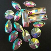 Crystal Glass Sew On Rhinestones Stones Flatback Beads for Clothes Wedding Dress