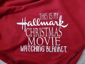 """This Is My Hallmark Christmas Movie  Blanket""  Decorative Throw 50x60 Gift"