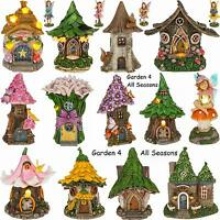 Fairy House Minature Garden Solar Light LED lluminated Dwelling Pixie Ornament