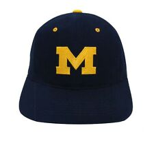 Michigan Wolverines Snapback Retro Vintage Logo Cap Hat Navy