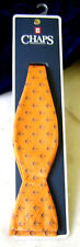 Chaps Mens Bow Tie - Orange with Shipbottom Anchors /orig. $38. New
