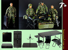 1/6th Portable Training Platform Folding Chair Table Soldier Military Scene