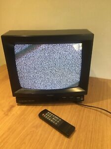 Vintage Bush 1408 Retro Television Set Tv Display Prop Film & Remote Read List
