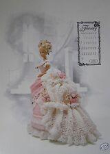 Annie's Attic Fashion Bed Doll Miss February Crochet Pattern 1993 Victorian