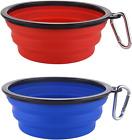 Guardians Large Collapsible Dog Bowls, 34oz Portable Foldable Water Bowls Food D