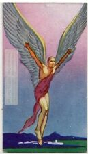 Greek Myth Daedalus and Icarus Flying Too Close To Sun 1930s Ad Trade Card