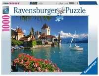 Puzzle 1000 Piezas RAVENSBURGER 19139 LAGO DE THUN SUIZA  - Puzle 1000 Piezas -