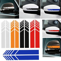 2pcs Rear View Mirror Stickers Car Styling Car Sticker Mirror Side Decal Stri_AU