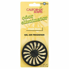 3 California Scents Organic Gel Air Freshener Odor Eliminator Fresh Linen 2.5 Oz