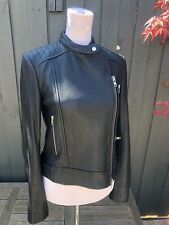 Camilla and Marc C&M Tempo Black Leather Jacket Size 6
