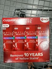 4 pack _Colgate OPTIC WHITE RENEWAL,Best Whitening Toothpaste Ever! High Impact