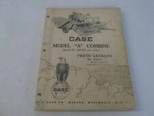 Case Model A Combine Parts Catalog