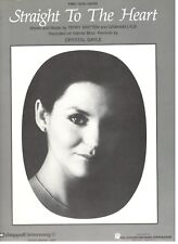 """CRYSTAL GAYLE """"STRAIGHT TO THE HEART"""" SHEET MUSIC-PIANO/VOCAL/GUITAR-1986-NEW!!"""