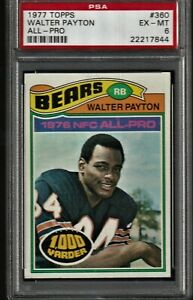1977 Topps Football Walter Payton #360 PSA 6 EXMT Terrific Centering & Color!!!