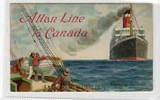 "RMS ""TUNISIAN"": Allan Line shipping advertising postcard (C15909)"