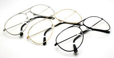 Wholesale Lots 12 Pairs Metal Aviator Pilot Nerd Unisex Glasses With Clear Lens