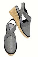 TS shoes TAKING SHAPE sz 11 / 42 Enya Espadrille Wedge glitter comfy NIB rp$140!